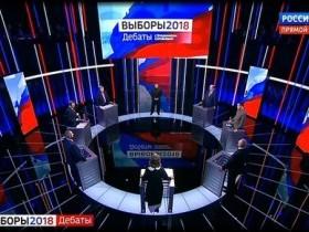 Владимир Жириновский и Ксения Собчак устроили перепалку во время теледебатов