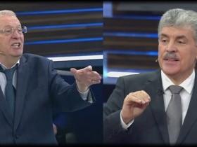 Дебаты Грудинина и Жириновского